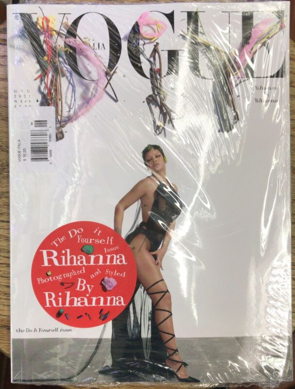 VOGUE ITALIA MAG-JUNE 2021-THE DO IT YOURSELF ISSUE-RIHANNA-BRAND NEW-IN STOCK
