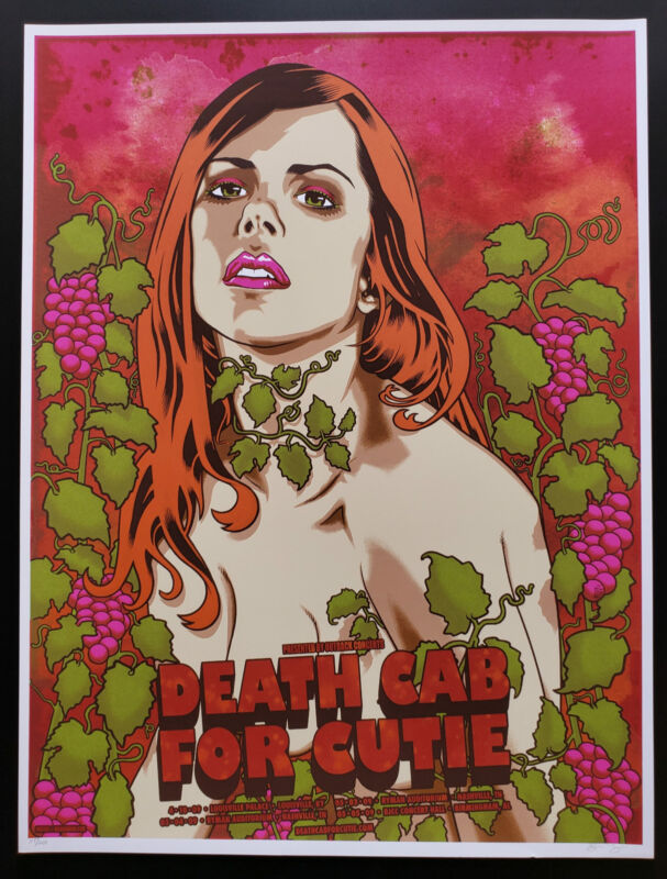 Death Cab for Cutie Concert Poster 2009 S/N Brian Ewing 2009