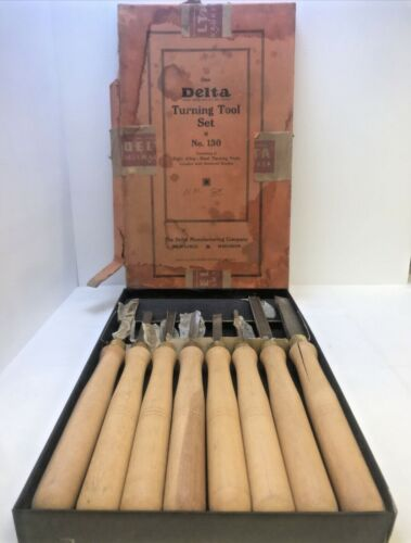 Delta Wood Turning Tool Set #130 MADE IN USA VINTAGE