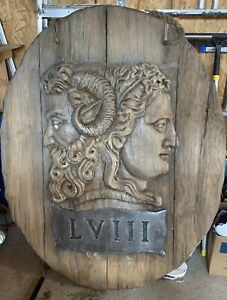 Gothic Medieval Huge Wood Wall Hanging Prop