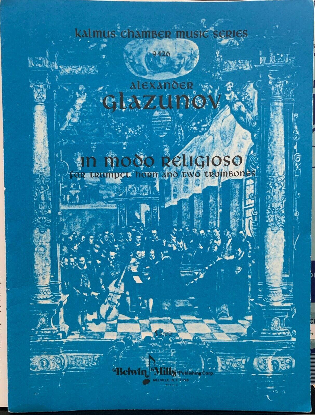 In Modo Religioso Brass Quartet By Alexander Glazunov Excellent - $6.49