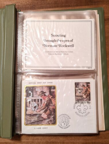 Boy Scout Norman Rockwell Stamps Envelopes Postal Cancellations First Day Covers