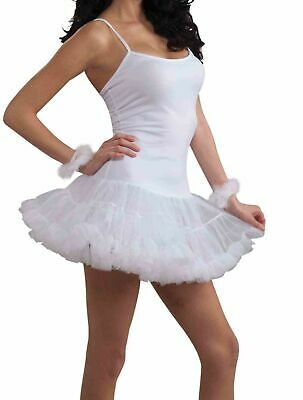 White Slip Dress With Attached Crinoline Adult Costume - Costumes With Dresses