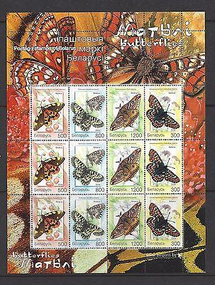 Belarus 2004 Butterfly Sheet, Scott 537a VF MNH