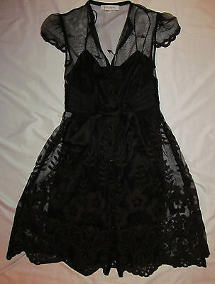 KAY UNGER lace baby doll GOTHIC LOLITA victorian embroidered sheath dress 2 NEW  - Baby Gothic