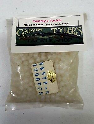 Fishing Lure Beads Glow in the Dark White Hard Plastic 1000pcs Size #6
