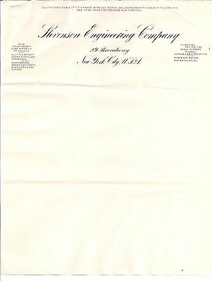 STEVENSON ENGINEERING COMPANY 29 Broadway NEW YORK CITY Rector 1796 PUREAU