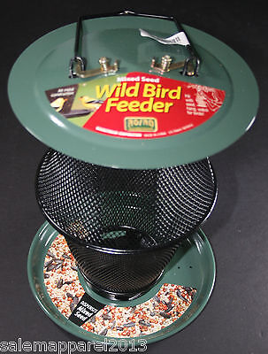 Mixed Seed Feeder (No/No Lantern Mixed Seed Wild Bird Feeder Metal Woodstream - Green -)