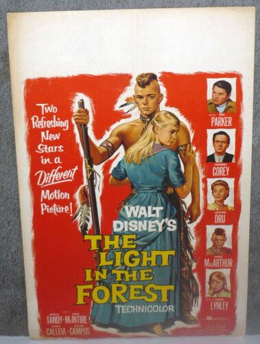 THE LIGHT IN THE FOREST original DISNEY movieposter CAROL LYNLEY/JAMES MACARTHUR