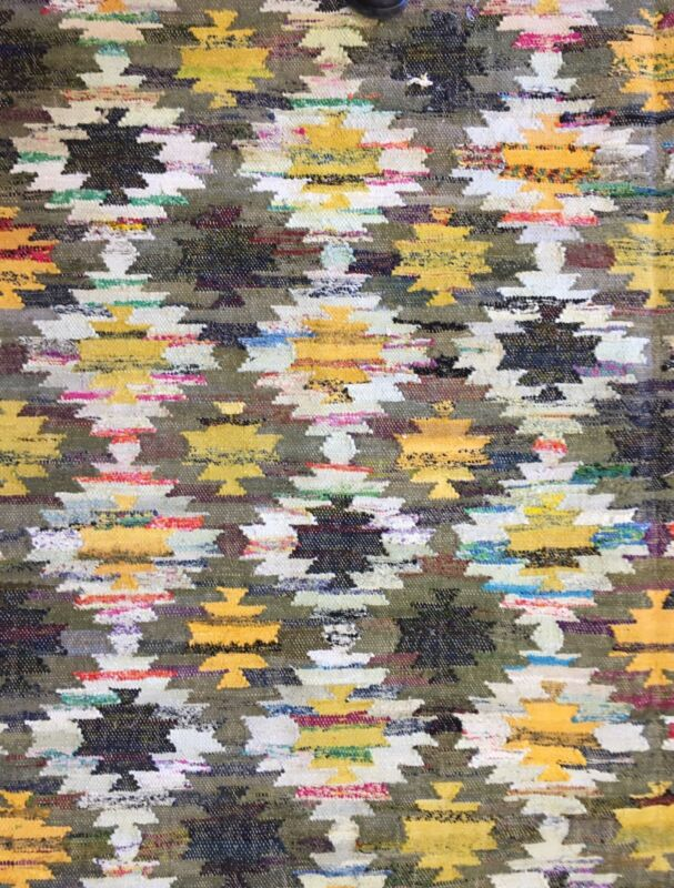 Marvelous Modern - Vintage Kilim Rug - Flatweave Tribal Carpet - 8 X 10 Ft.