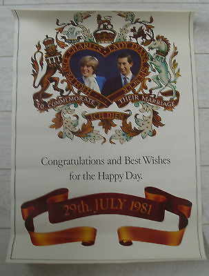 3 posters & tube for the 1981 Charles & Di Royal Wedding -2 posters of Charles!