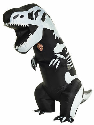 Scheletro T- Rex Gonfiabile Costume Adulti Dinosauro Halloween Morph Suits