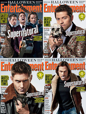 EW Entertainment Weekly NEW 2017 Halloween Supernatural SET Jared Jensen Misha - Supernatural Halloween 2017