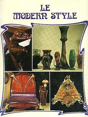 Art Nouveau Design - Glass Furniture, Jewelry Etc. / Illustrated Book (French Te