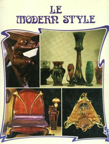 Art Nouveau Design - Glass Furniture Jewelry Etc. Illustrated Book (French Text}