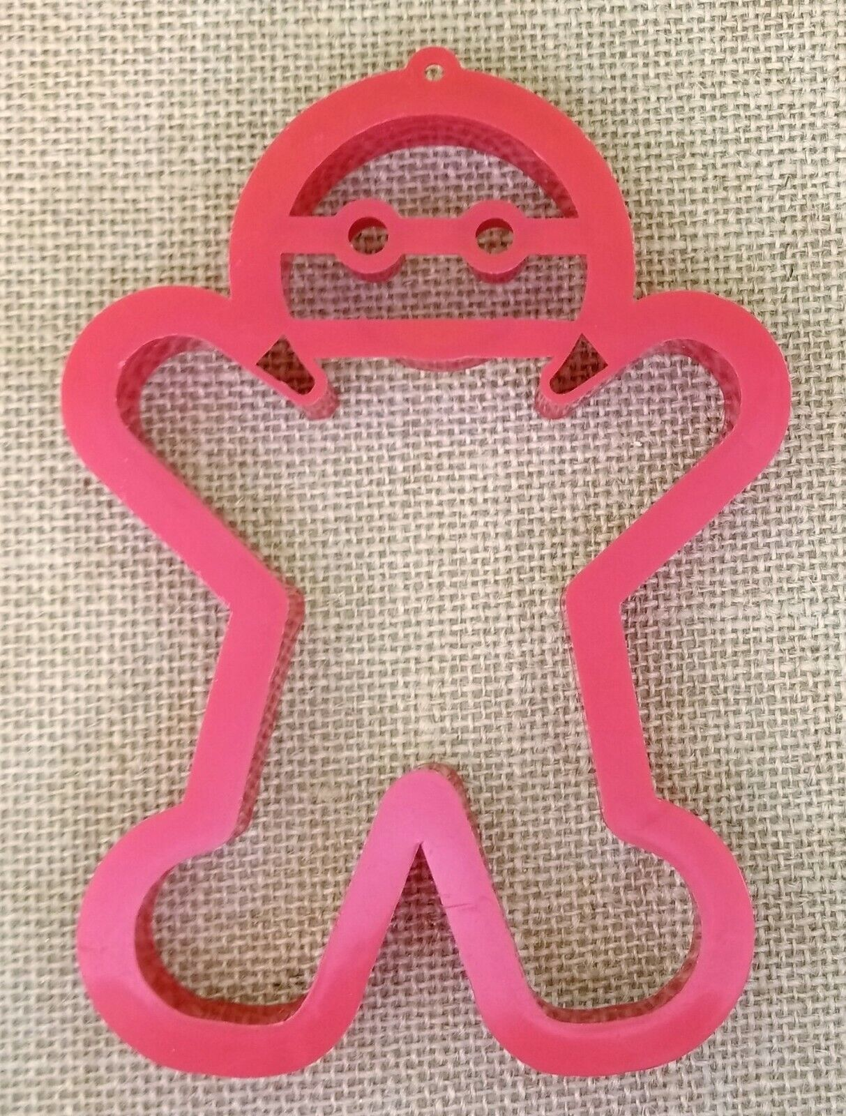 Gingerbread Man Cookie Cutter Large 5.5 In. Red Plastic  - $6.98