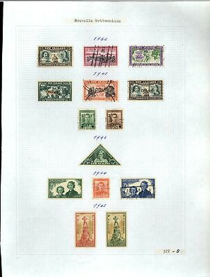New Zealand 1940-1945 Album Page Of Stamps #V21271