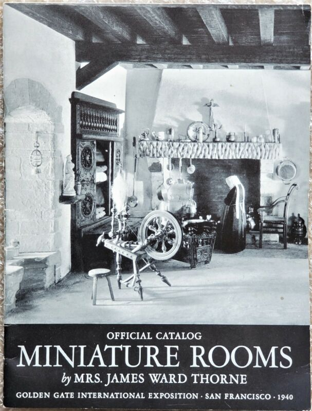 1940 Official Catalog Miniature Rooms by Mrs. James Ward Thorne, SF World