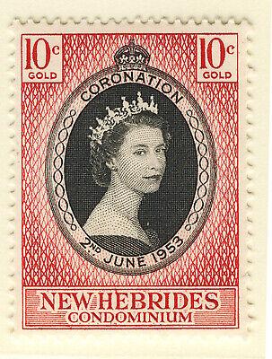 NEW HEBRIDES 1953 CORONATION  MNH