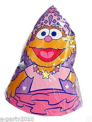 ZOE BALLERINA PAPER CONE HATS (8) ~ Birthday Party Supplies Sesame Street Pink