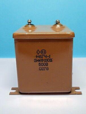 2f- 500v. Aluminum Foil Paper In Oil - Pio Audio Capacitor Lot 1 Pc