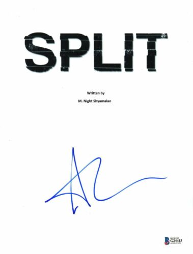 ANYA TAYLOR-JOY AUTOGRAPH SPLIT SIGNED MOVIE SCRIPT CASEY GLASS BECKETT BAS COA