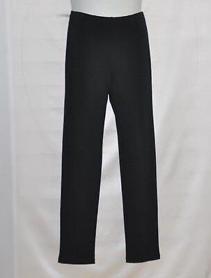 Bob Mackie Pull-On Ponte Pants with Seam Detail Size XS Black