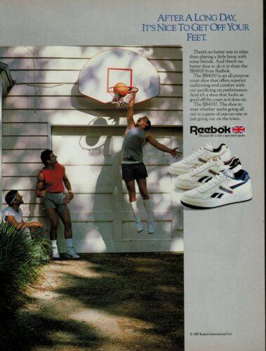 1987 REEBOK BB4000  (basketball  shoes)   : Magazine Print AD .