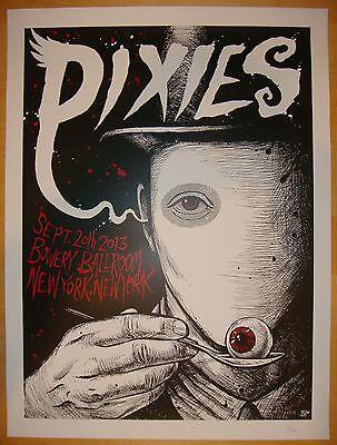 2013 The Pixies - NYC Silkscreen Concert Poster by Brandon Heart