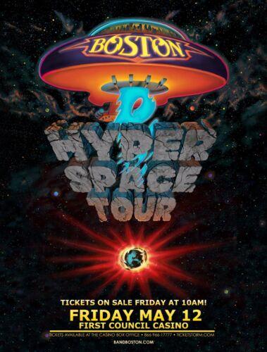 "BOSTON ""HYPER SPACE TOUR"" 2017 OKLAHOMA CONCERT POSTER -Classic Rock Music"