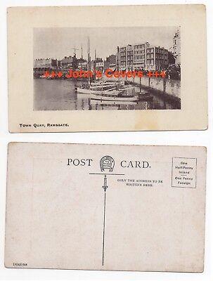 c1910 GB Cover ENGLAND Postcard RAMSGATE TOWN QUAY Unused ARCADIA SERIES