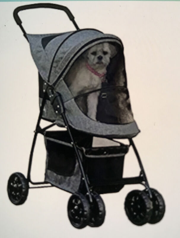 Pet Gear Happy Trails Pet Stroller for Cats/Dogs, Easy One-Hand Fold with Liner,