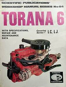 HOLDEN TORANA 6 WORKSHOP MANUAL for Series LC, LJ