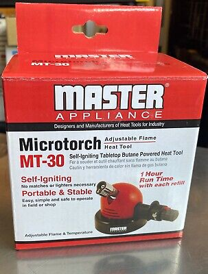 Master Appliance Mt-30 Tabletop Microtorch Self-igniting Adjustable Flame