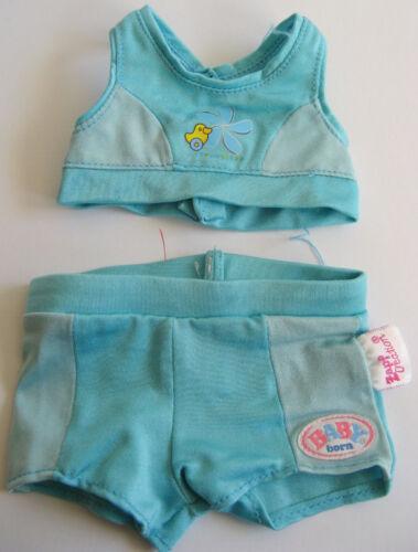 Puppenkleidung für Baby Born Puppen 43cm   2teilger Badeanzug
