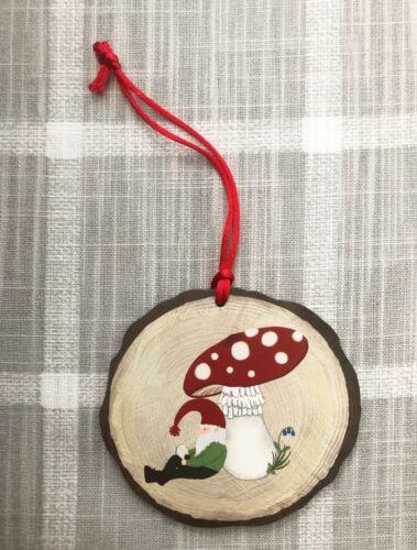 Swedish Tomte and Mushroom Christmas Ornament