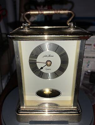 Vintage Seth Thomas Brass pendulum Desk Mantle Quartz Clock Model #243 CHARM
