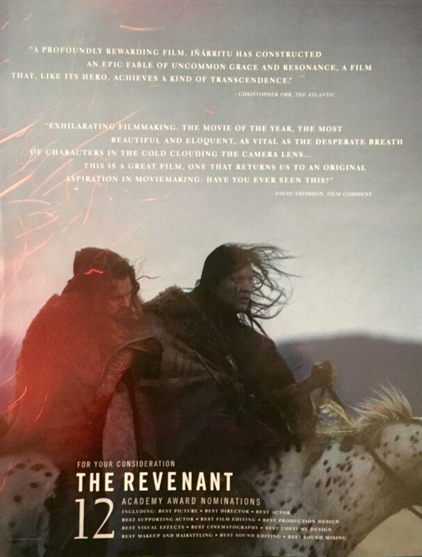 THE REVENANT Oscar Golden Globe advert