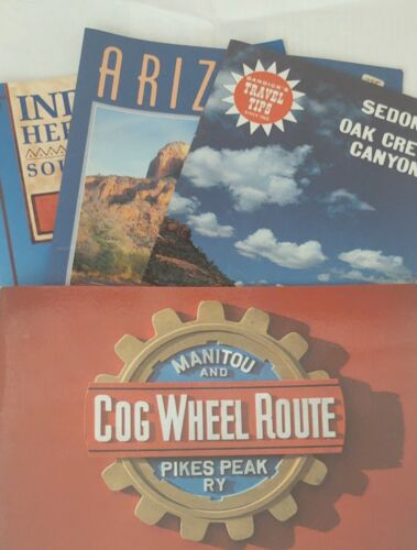 Vintage Early 90s Tourist Travel Booklets 4 pcs  American West and Southwest Ind