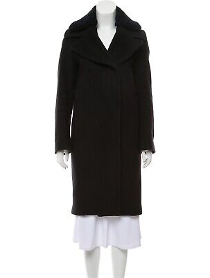 Acne Studios Knee-length Wool Coat With Shearling Collar
