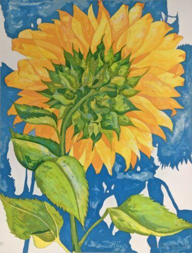 "Richard C Karwoski ""sunflower"" 1980 | Hand Signed Print | Make An Offer Gallart"