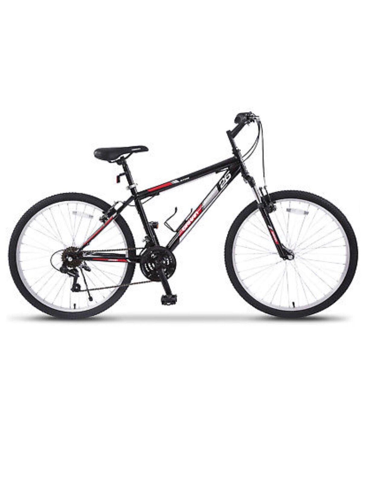 """18 Speed 26"""" Mountain Bike Bicycle Shimano Hybrid Black Red"""