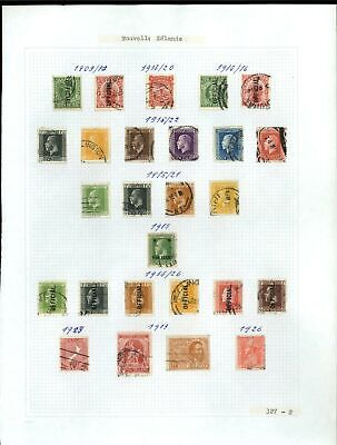 New Zealand 1909-1926 Album Page Of Stamps #V21268