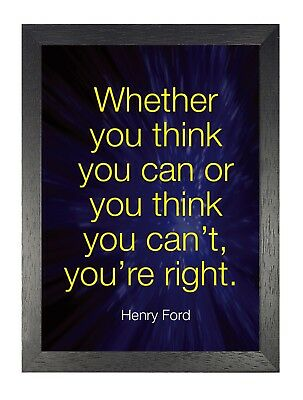 Henry Ford American Business Magnate Motivation 39 Famous Quote Poster Photo