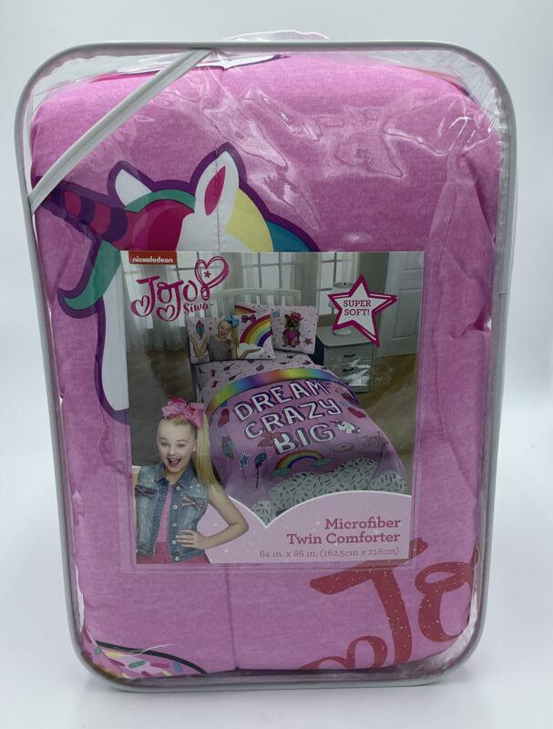 Nickelodeon JoJo Siwa Microfiber Twin Comforter dream crazy big Reversible