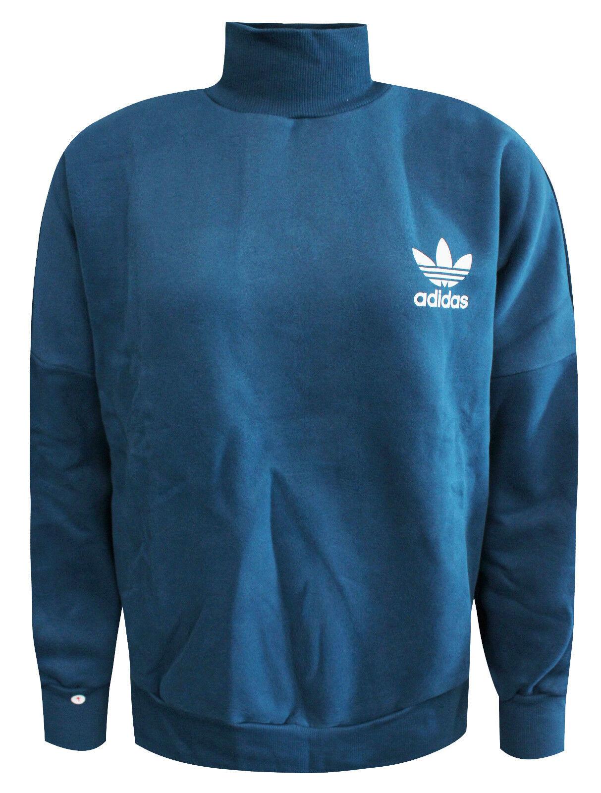 Details about Adidas Originals Blue Trefoil Sweatshirt Track Top Jumper Jacket AY8397 A60D