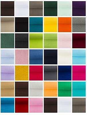 Bündchenstoff Uni Schlauchware Meterware glatt 38 Farben OekoTex 0,5 m