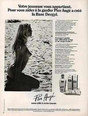 Pier Base (▬► PUBLICITE ADVERTISING Pier Augé Base DERGYL crème 1978)