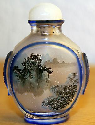 China  Snuff Bottle Schnupftabak Flasche aus Glas chinese 20. Jh.