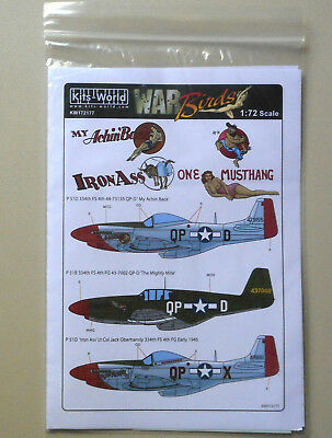1/72 P51D/B My Achin Back/Iron Ass The Mighty Mite War Birds Decal WWII Aircraft